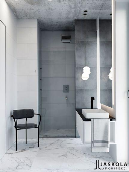 Łazienka z marmurową posadzką